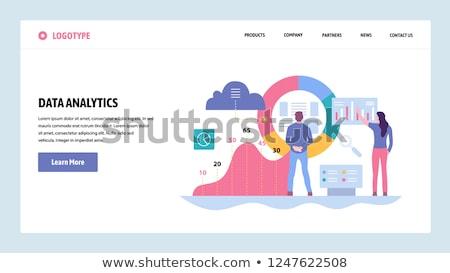 grande · datos · análisis · aterrizaje · página - foto stock © rastudio