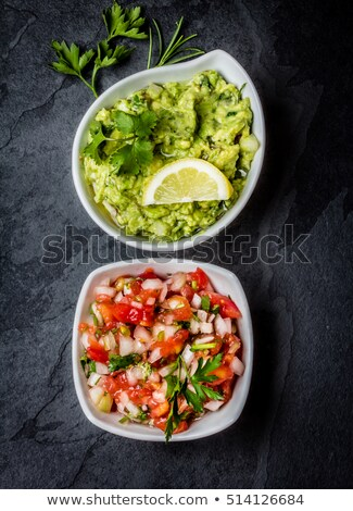 Guacamole and  tomato sauce salsa Stock photo © furmanphoto