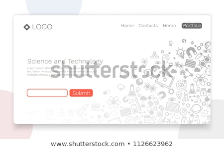Stock photo: Engineering flat concept icons pattern