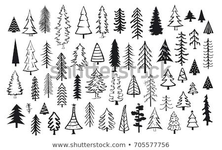 Рождества соснового вечнозеленый дерево детей вектора Сток-фото © robuart