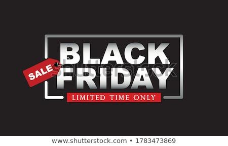 Black friday zaman poster hediye vektör sunmak Stok fotoğraf © robuart