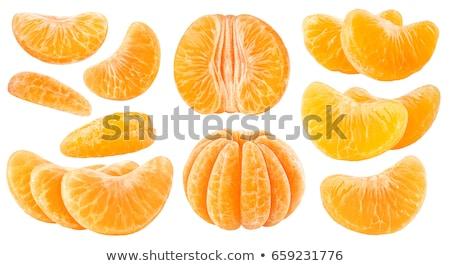 Friss organikus hámozott mandarin gyümölcs gyümölcsök Stock fotó © DenisMArt