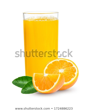 Vidro garrafa orgânico fresco suco de laranja laranja Foto stock © DenisMArt