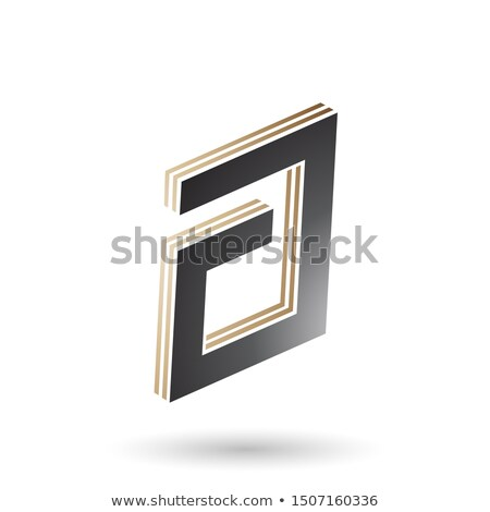 Beige and Black Rectangular Layered Letter A Stock photo © cidepix