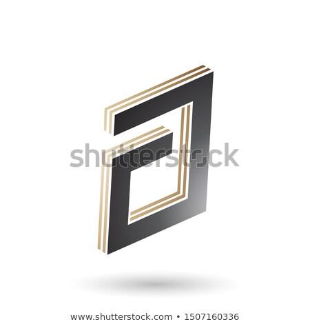 Beige zwarte rechthoekig brief ontwerp Stockfoto © cidepix