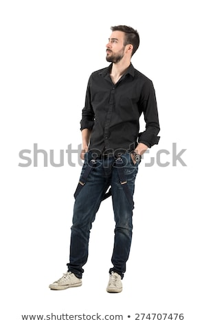 concerned man looking away with hand in pocket Stock photo © feedough
