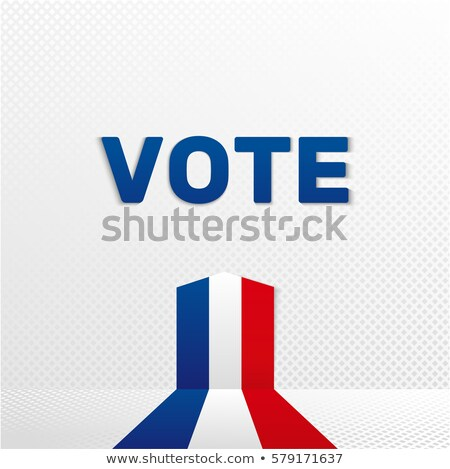 Avrupa seçim şerit bayrak dizayn imzalamak Stok fotoğraf © doomko