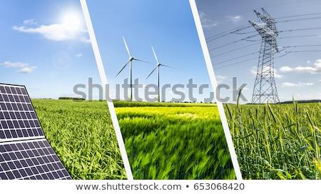 Wiatr zielone energii ze źródeł odnawialnych moc Hill Zdjęcia stock © alexaldo