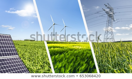 Wind groene hernieuwbare energie macht heuvel Stockfoto © alexaldo