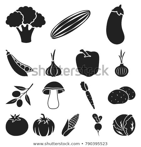 vector set of eggplant Stock photo © olllikeballoon