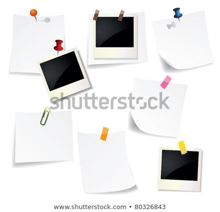 Jegyzet fotó tárgy spirál vágási körvonal papír Stock fotó © CrackerClips