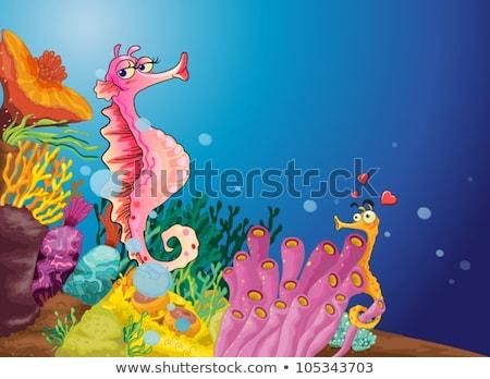 Stock fotó: Kettő · tenger · természet · levél · óceán · zöld