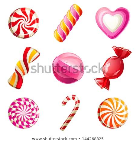 Vektör ayarlamak şekerleme doku çikolata Stok fotoğraf © olllikeballoon