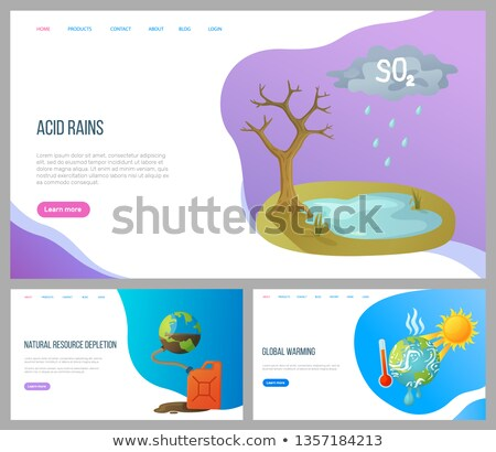Pollution Planet, Toxic Water, Empty Soil Vector Stock photo © robuart