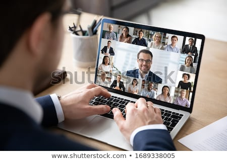 Boss Businessman and Employer on Team Meeting Stock photo © robuart