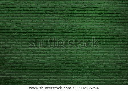 Zöld téglafal ipari építkezés háttér városi Stock fotó © Anna_leni