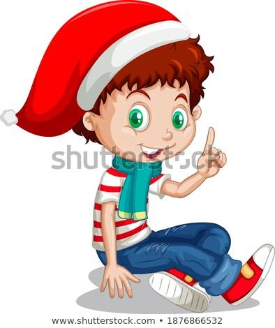 красный одежду фестиваля набор мальчика продовольствие Сток-фото © toyotoyo