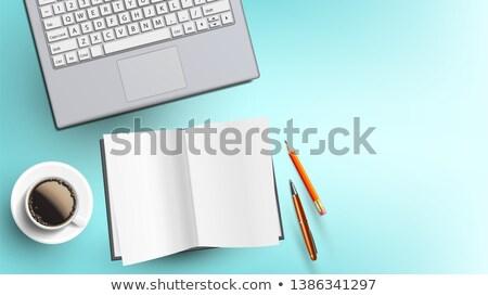 Diario oficina escritorio vector lápiz borrador Foto stock © pikepicture