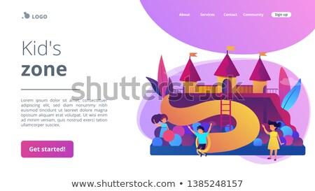 子供 遊び場 着陸 幸せ 子供 ストックフォト © RAStudio