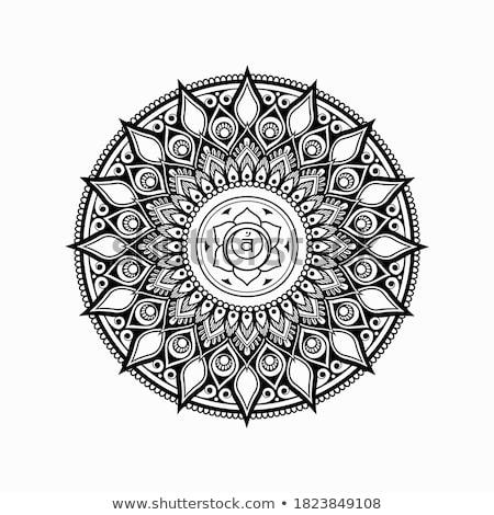 floral · circular · adornos · tercero · establecer · cuatro - foto stock © imaagio