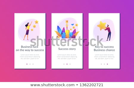 Stock photo: On the way to success app interface template.
