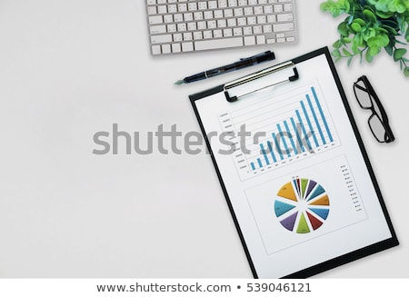 office workplace table with report page stock photo © karandaev