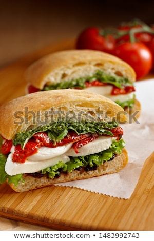 итальянский · Капрезе · Бутерброды · свежие · помидоров · моцарелла - Сток-фото © melnyk