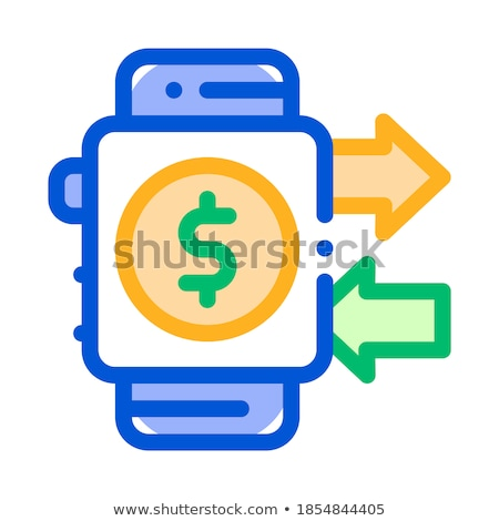 Payment Smart Watch Pay Pass Vector Thin Line Icon Stock photo © pikepicture