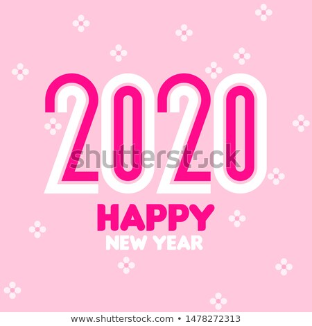 Happy New Year 2020 logo design with elegant condensed numbers Stock photo © ussr