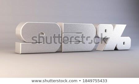 Tres por ciento blanco aislado 3D 3d Foto stock © ISerg