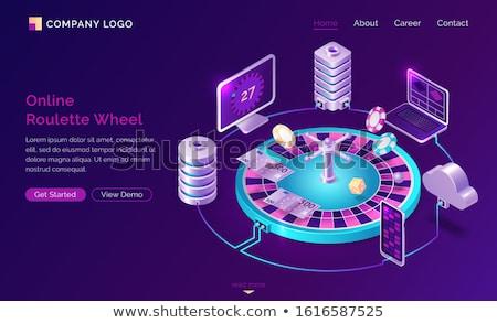 Gioco d'azzardo gioco computer casino app pc Foto d'archivio © robuart