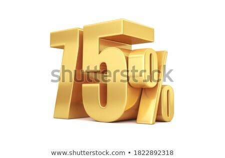 seventy five percent on white background isolated 3d illustrati stock photo © iserg