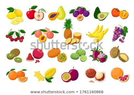 Citron and Banana, Melon and Carambola Fruits Set Stock photo © robuart