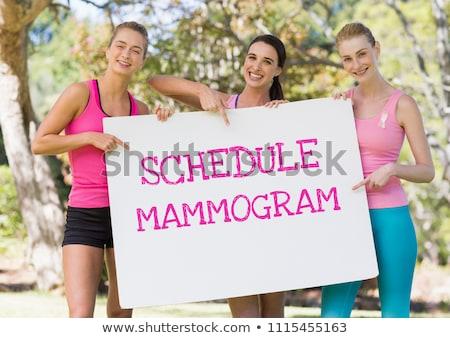 menetrend · szöveg · rózsaszín · mellrák · tudatosság · nők - stock fotó © wavebreak_media