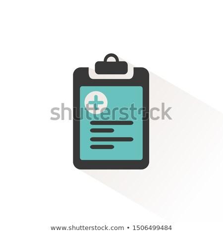 pharmacy inventory list flat icon with beige shade medicine vector illustration stock photo © imaagio