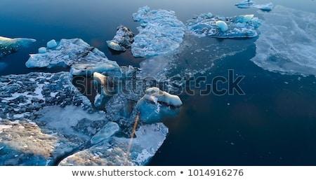 Sarkköri kilátás globális felmelegedés égbolt hó háttér Stock fotó © Maridav