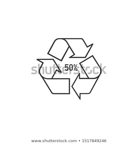 Bio matter organic material recycling symbol 50 FOR, 50 percent. Stock Vector illustration isolated  Stock photo © kyryloff