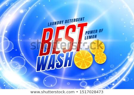 erő · mos · szennyes · mosószer · csomagolás · terv - stock fotó © sarts