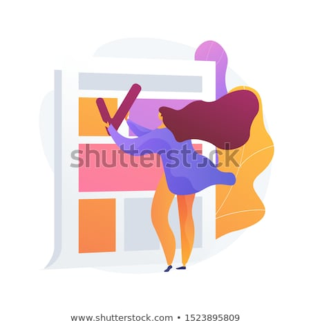 news article editing and proofreading vector concept metaphor stock photo © rastudio