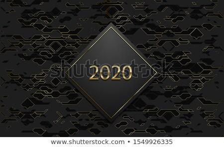 Luxo bandeira dourado texto preto etiqueta Foto stock © Iaroslava