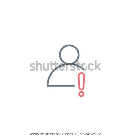 Liniowy profil użytkownik działania ikona wykrzyknik Zdjęcia stock © kyryloff