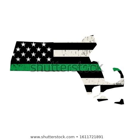 Massachusetts militaire ondersteuning Amerikaanse vlag vorm illustratie Stockfoto © enterlinedesign