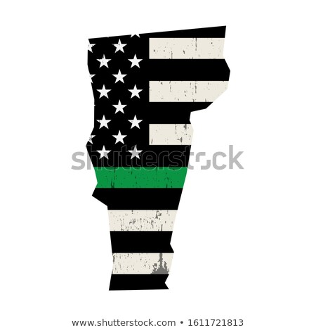 State of Vermont Military Support American Flag Illustration Stock photo © enterlinedesign