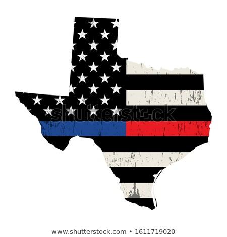 Texas policji strażak wsparcia banderą ilustracja Zdjęcia stock © enterlinedesign