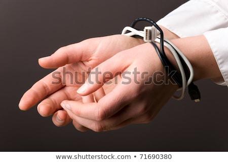 Hand Draht Mann Menge Frau Welt Stock foto © AndreyPopov