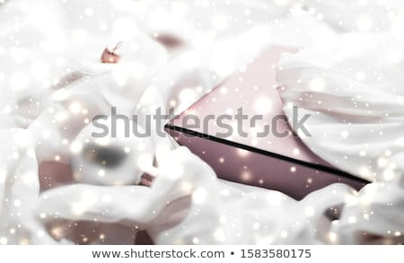 Christmas magic holiday background, festive baubles, blush pink  Stock photo © Anneleven