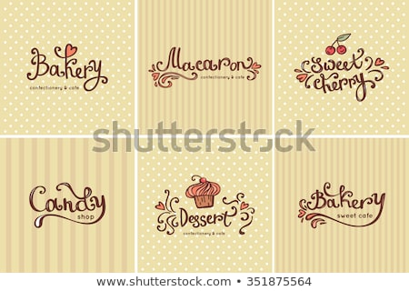 Sütemény bolt macaronok keksz édes szalag Stock fotó © pikepicture