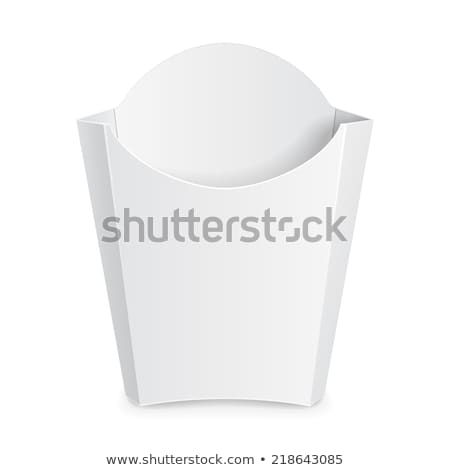 Carton Container For French Fries Packaging Vector Stock photo © pikepicture