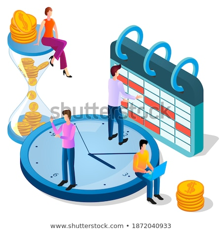 Time Management Man Planning Workflow Calendar Stock photo © robuart