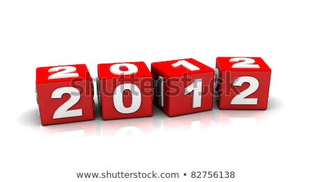 red cubes 2012 stock photo © marinini